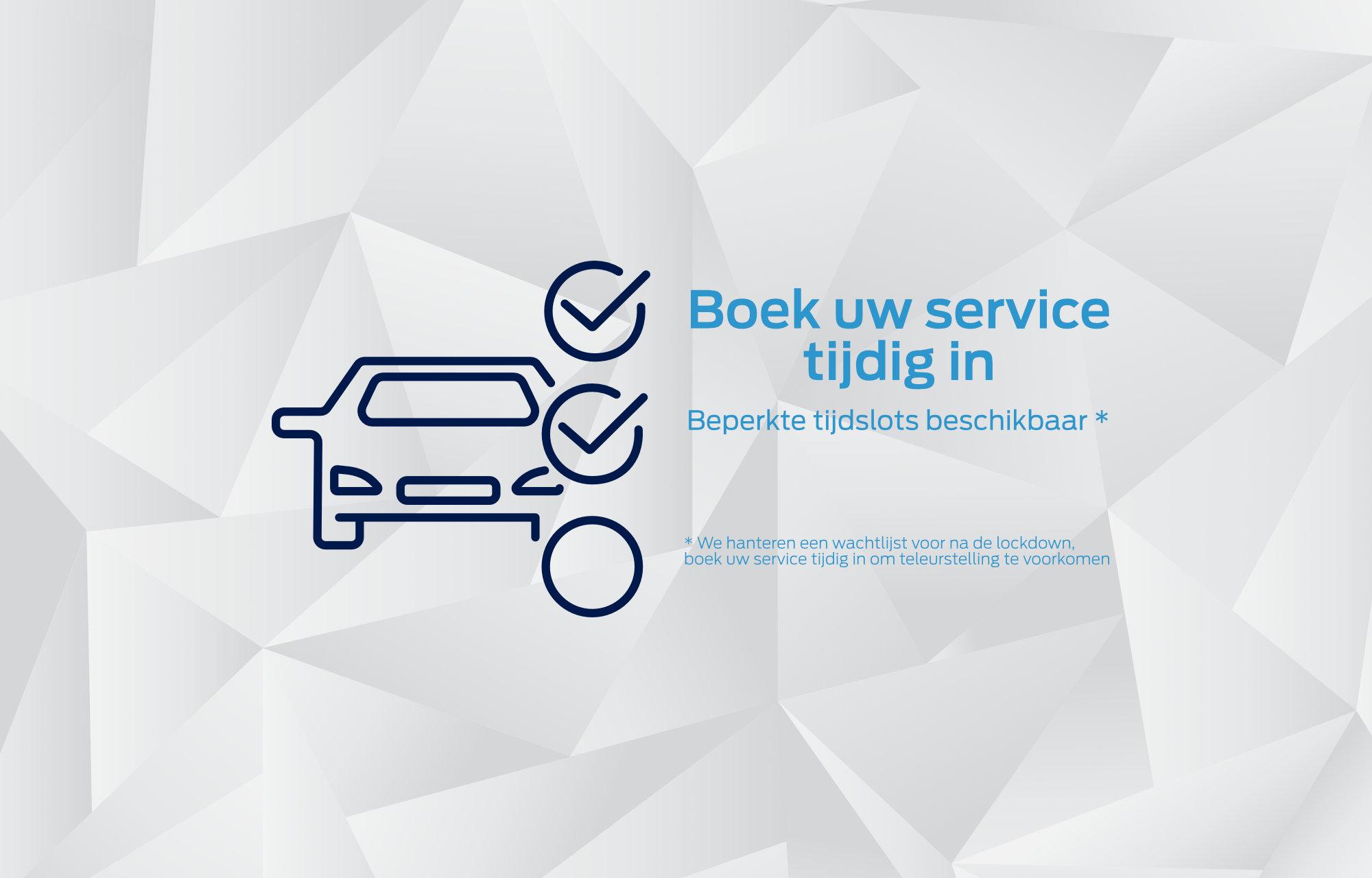 Boek uw service tijdig in!