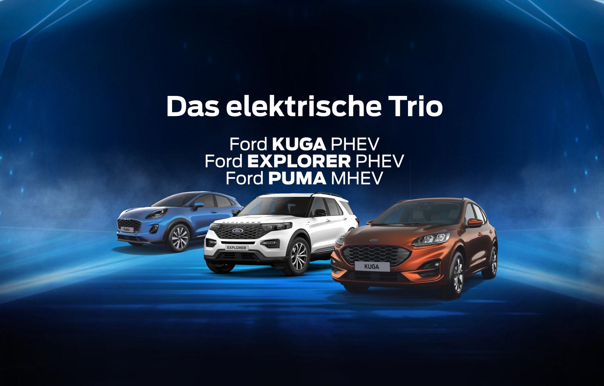 Das elektrische Trio in der Grüzenfeld-Garage