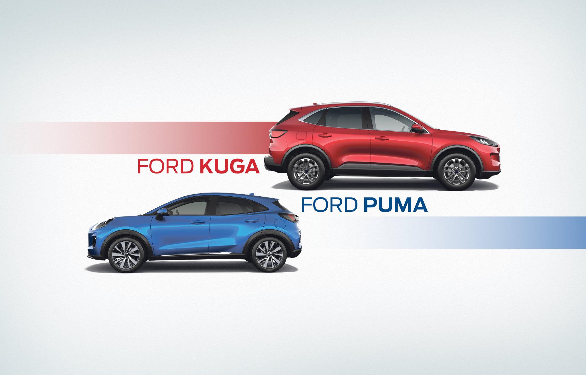 Unsere brandneuen starken Top-Modelle: der Ford Kuga und der Ford Puma!