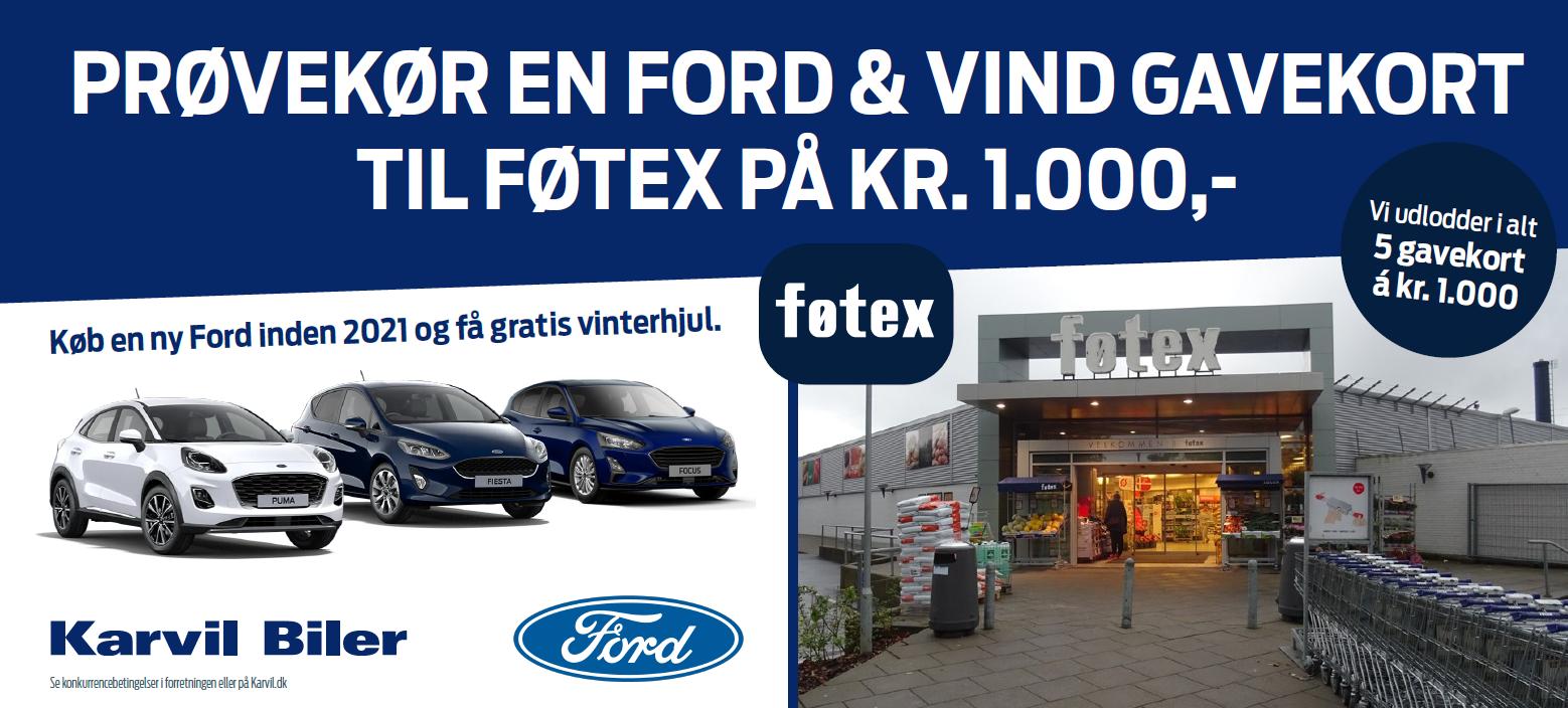 Prøvekør en Ford i Middelfart og vind gavekort til Føtex