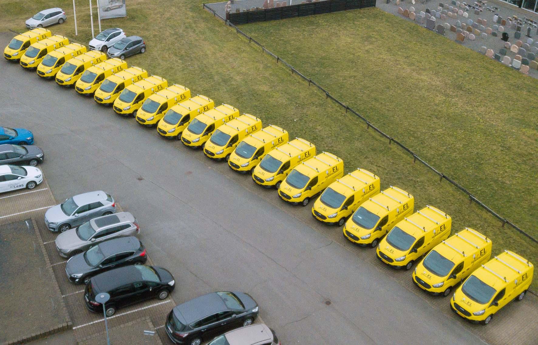 Mester fik leveret 21 nye Ford-varebiler på én gang