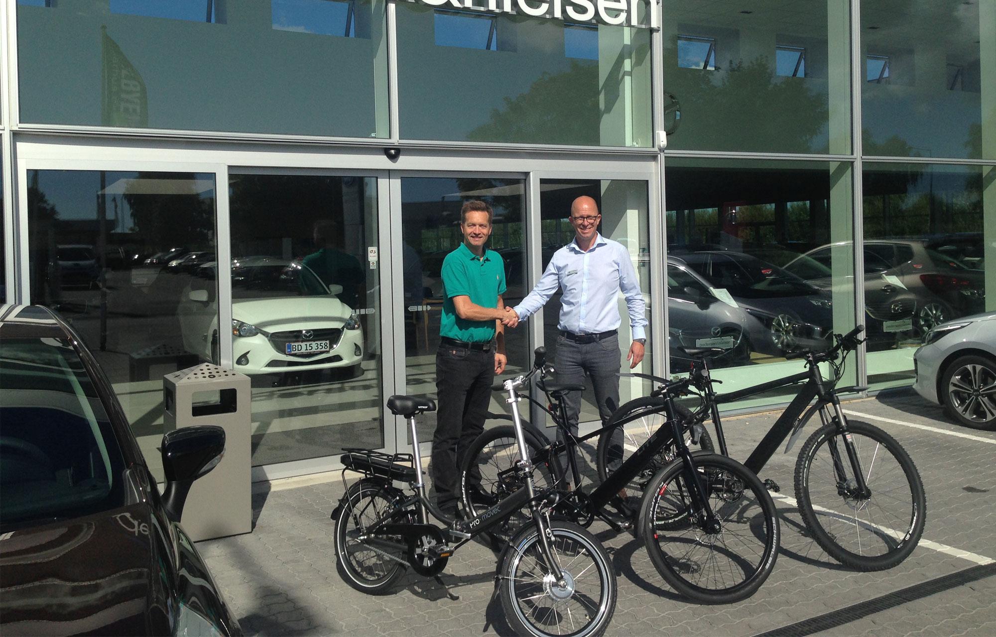 Pedersen & Nielsen Automobilforretning i Risskov udvider modelporteføljen med tohjulede køretøjer