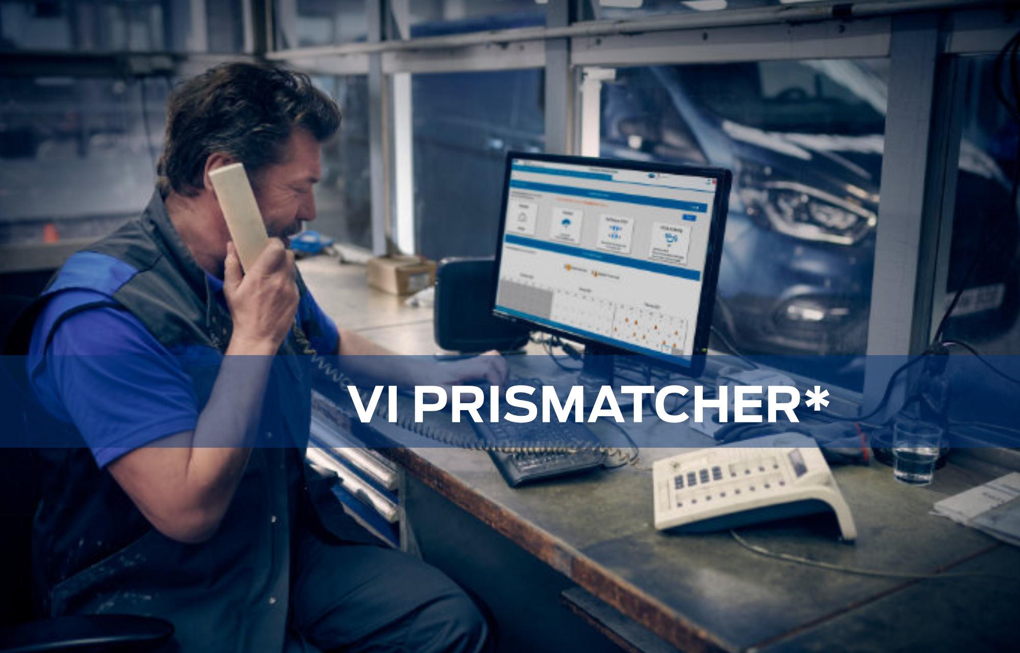 Hos Autoriseret Ford Værksted Viborg tilbyder vi Prismatch