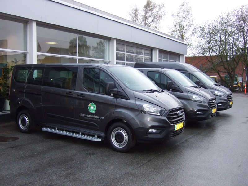 Tillykke med de nye bil Ford Transit Custom Busser