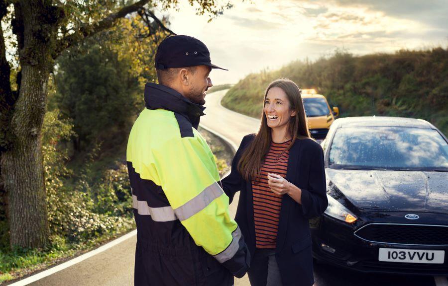 Europæisk vejhjælp med Ford Service