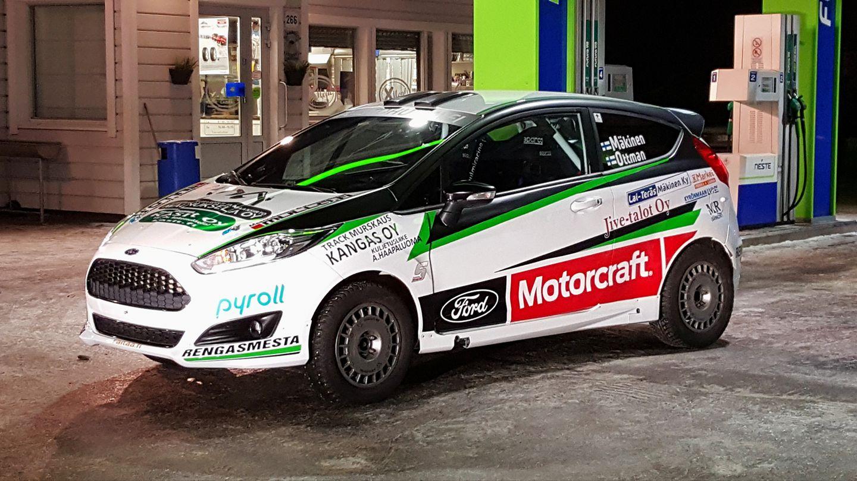 Mäkinen ja Luhtaniemi Ford Motorcraftin kuljettajat Ralli SM -sarjassa