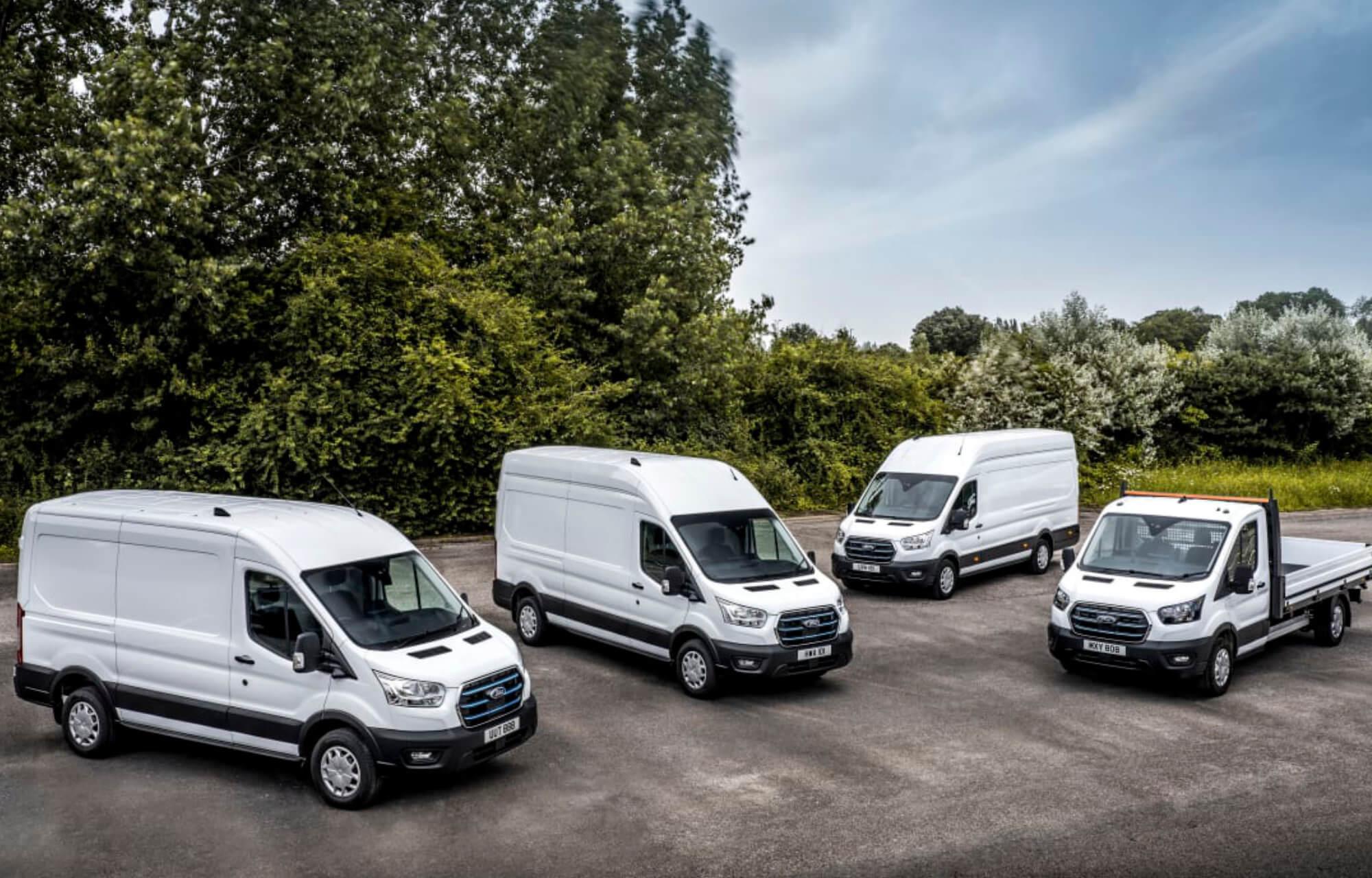 Täyssähköinen Ford E-Transit yrityksille testikäyttöön Euroopassa