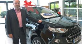 Les clés de la 1ère Ford EcoSport remises par Paul Flanagan