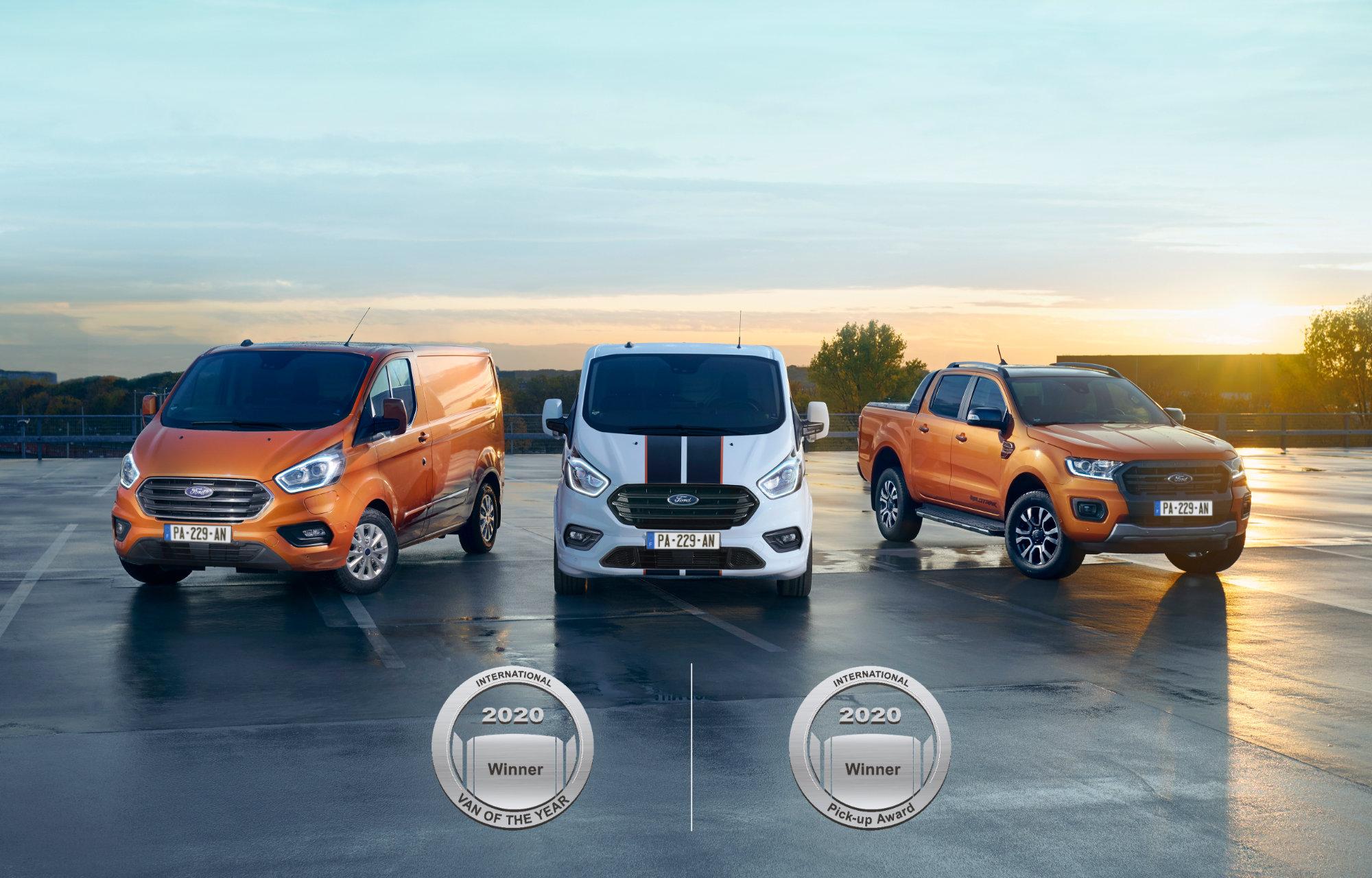 Ford Tansit Custom et Ford Ranger **Véhicules Utilitaires de l'année 2020** !