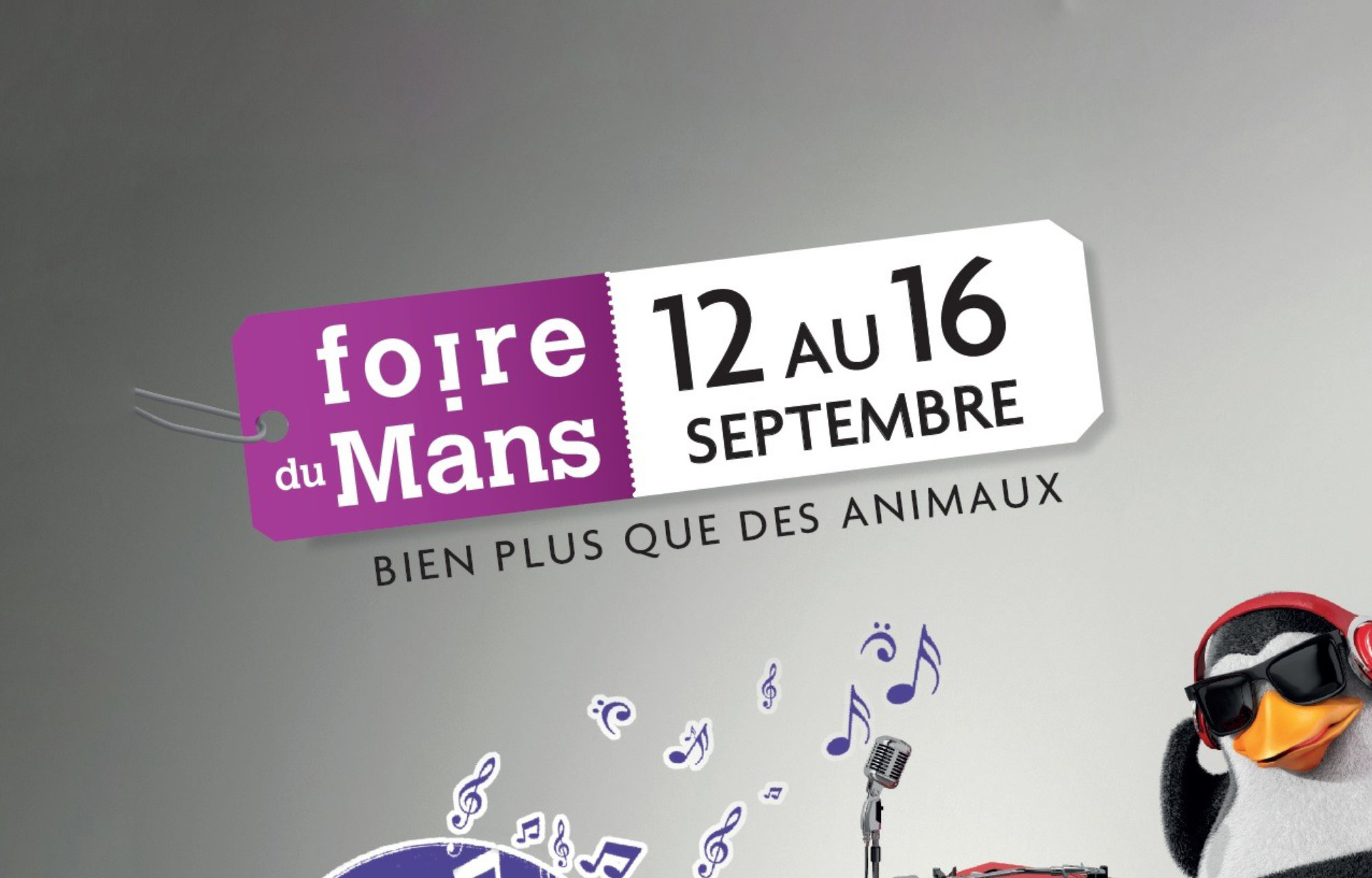 Retrouvez-nous à **la Foire du Mans** du 12 au 16 Septembre !