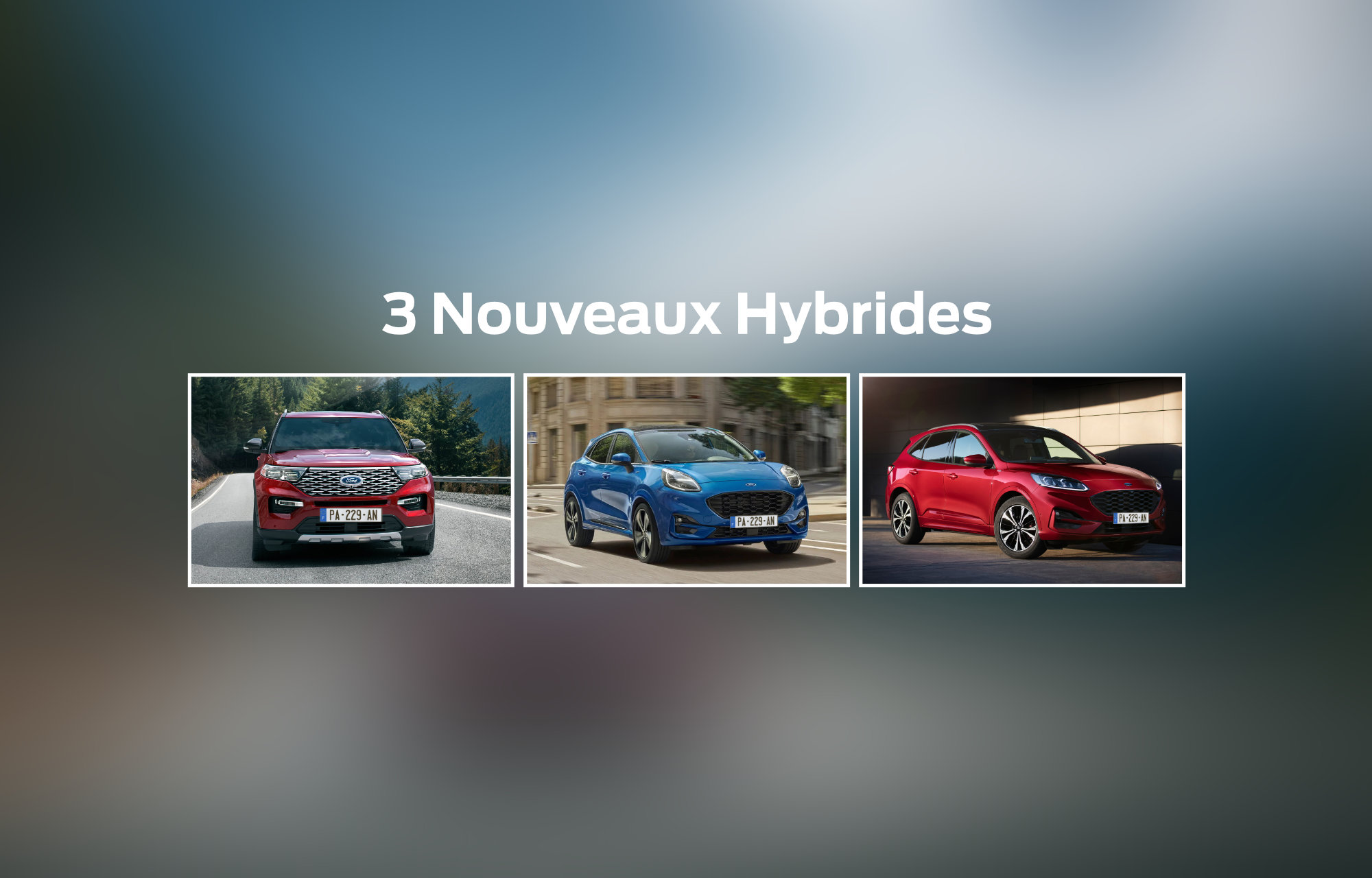 Découvrez les **3 nouveaux hybrides** de Ford dans notre concession de **Ford Mâcon** !