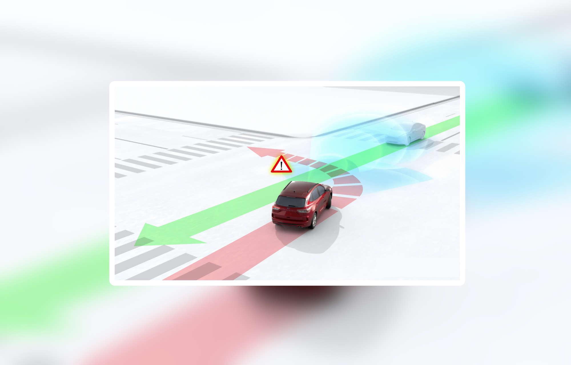 Cette nouvelle technologie permet au Ford Kuga d'éviter les accidents latéraux dus aux angles morts