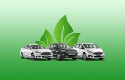 Fords die op CNG rijden