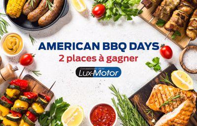 **2 places à gagner pour l'American BBQ Days !**