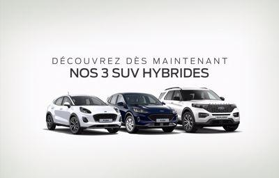 Nos **3** SUV Hybrides