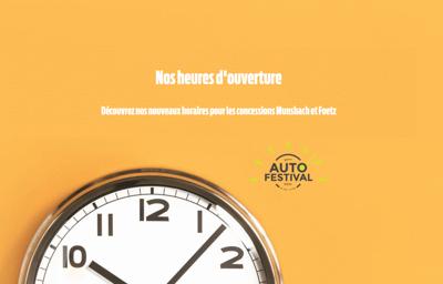 **Auto-Festival** : nouvelles dates et nouveaux horaires !