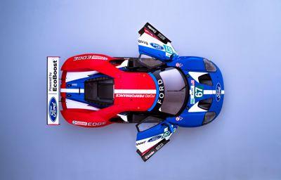 Ford GT's op het circuit in Paasweekeinde