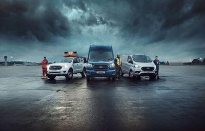 Ford opvallend marktleider bij de bedrijfsvoertuigen