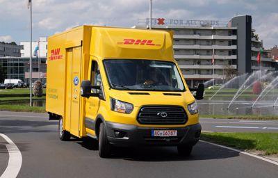 Elektrische bestelwagen met Ford Transit chassis