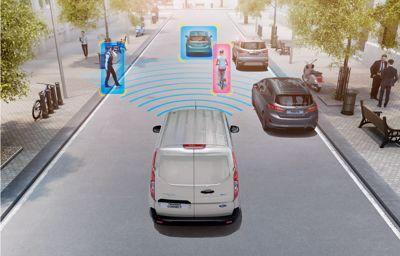Ford verbindt voertuigen en sensoren om de verkeersveiligheid te verbeteren