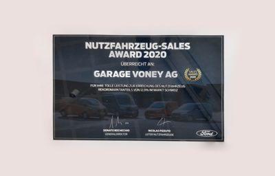 Garage Voney erhält den Nutzfahrzeug-Sales Award 2020