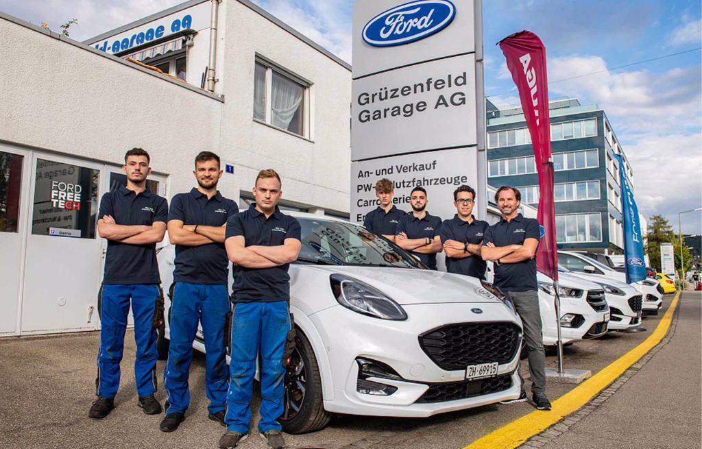 Team der Grüzenfeld-Garage AG Winterthur