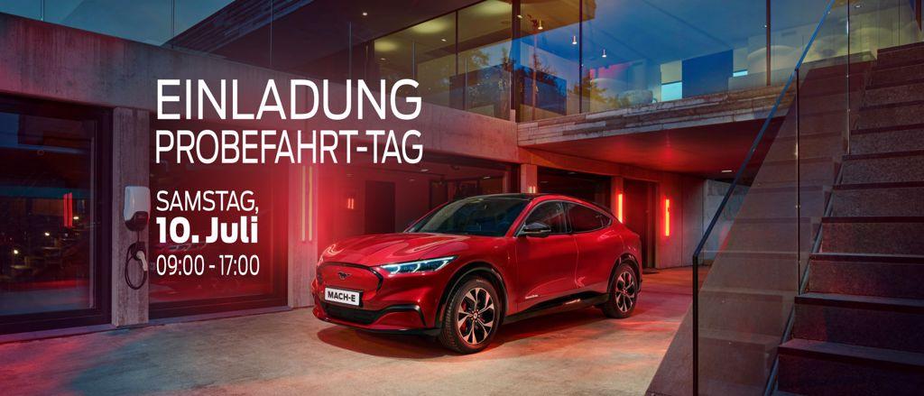 Ford Mustang Mach-E Probefahrttag Bächliwis Auto AG