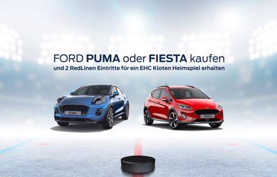 Ford Puma oder Fiesta kaufen und ein Eishockey-Spiel live geniessen!