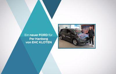 Ein Ford Dienstwagen für EHC Kloten's Headcoach