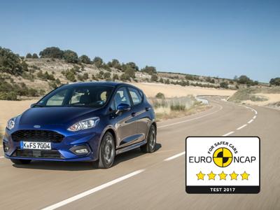 Euro NCAP Crashtest: Bestnote für den neuen Ford Fiesta