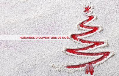 Ouverture durant les fêtes de Noël et de fin d'année