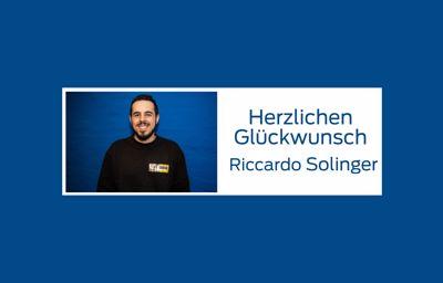 Herzlichen Glückwunsch Riccardo!