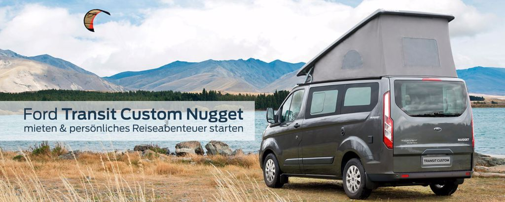 Campen am See mit Ford Transit Custom Nugget