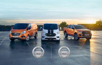 Il Ford Transit Custom è international van of the year 2020 e il Ford Ranger è international Pick-Up of the year 2020
