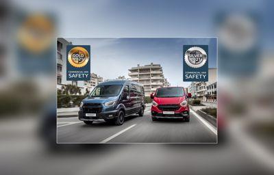 Primi riconoscimenti per Ford Transit e Transit Custom dall'Euro NCAP per i sistemi di sicurezza attiva dei furgoni