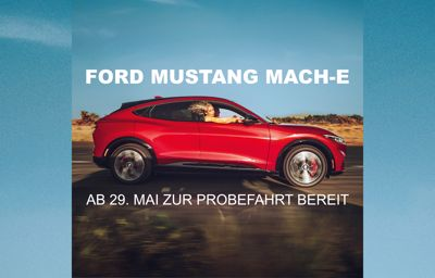 Fahren Sie den Mustang Mach-E Probe