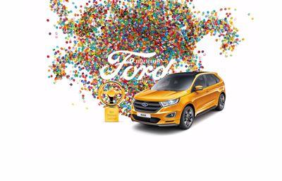 Goldenes Lenkrad für den Ford Edge