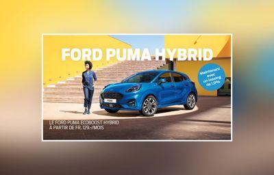 Le Ford Puma EcoBoost Hybrid à patir de Fr. 129.-/mois