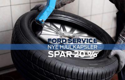 Spar 20 % på nye Ford hjulkapsler