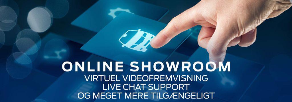Virtuelt showroom med videofremvisning