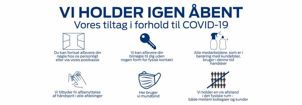Covid-19 info Pedersen og Nielsen Automobiler