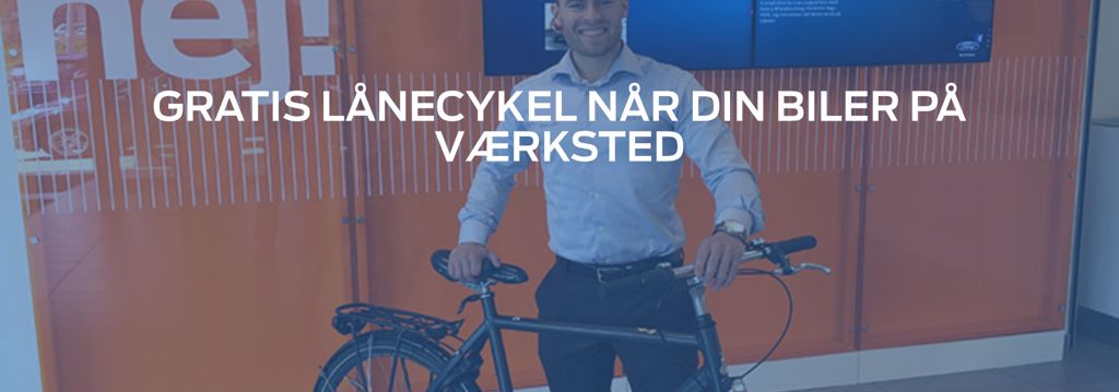 Gratis lånecykel hos Andersen Biler   ford i Ballerup og København N