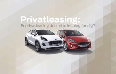 Ford privatleasing - er privatleasing den rette løsning for dig?