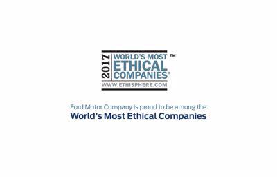 Ford Motor Company er en af verdens mest etiske virksomheder
