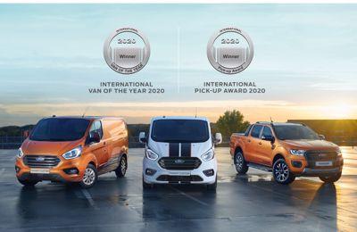 Ford er dobbelt stormester ved International Van of the Year 2020