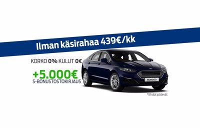 Uuteen Ford Mondeoon korko 0% ja kulut 0€