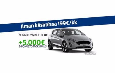 Uuteen Ford Fiestaan korko 0% ja kulut 0€