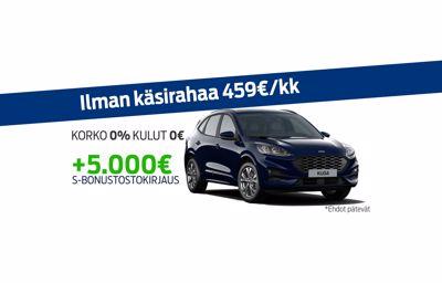 Uuteen Ford Kugaan korko 0% ja kulut 0€