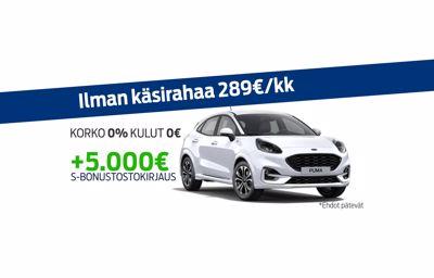 Uuteen Ford Pumaan korko 0% ja kulut 0€