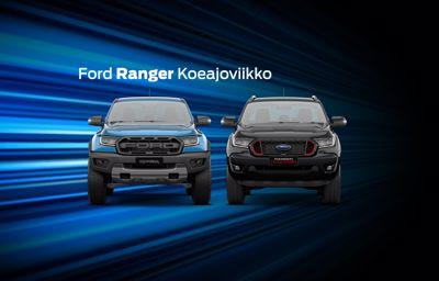 Ford **Ranger** koeajoviikko Kajaanin Wetterillä